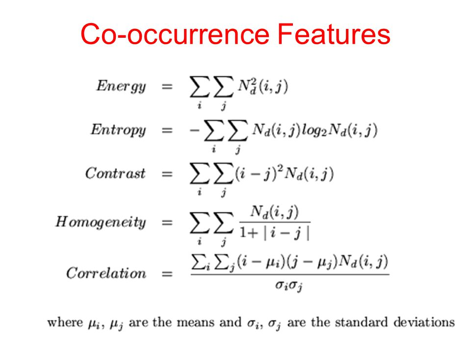 Co-occurrence Features