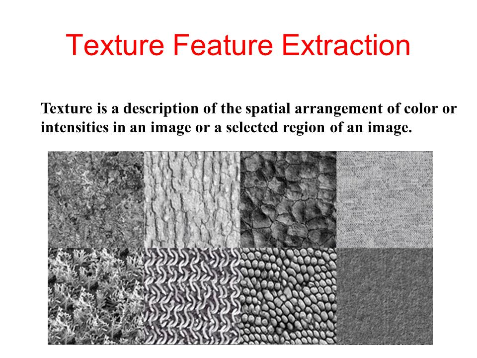 Texture Feature Extraction