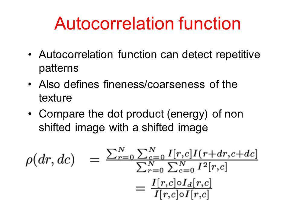 Autocorrelation function
