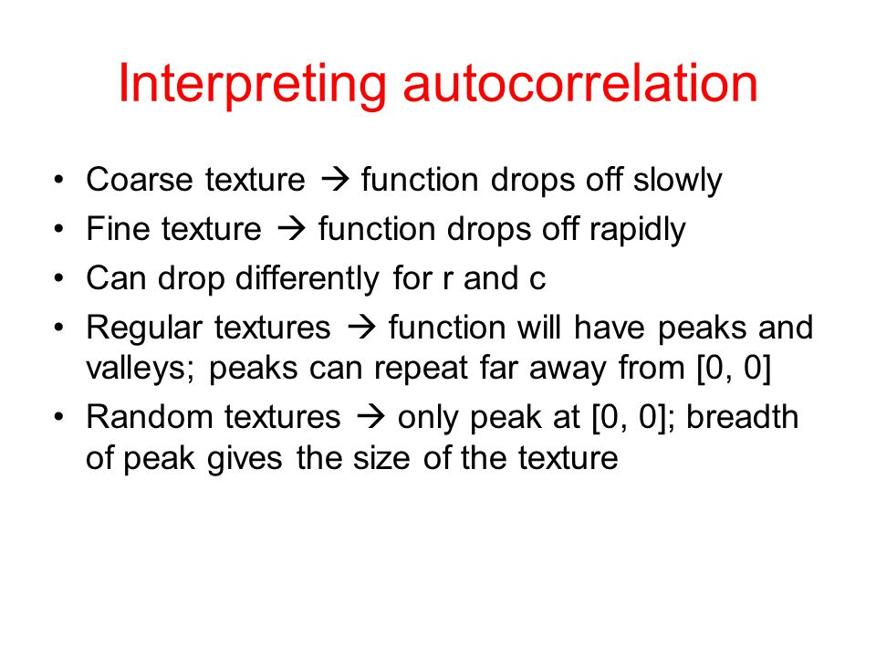 Interpreting autocorrelation
