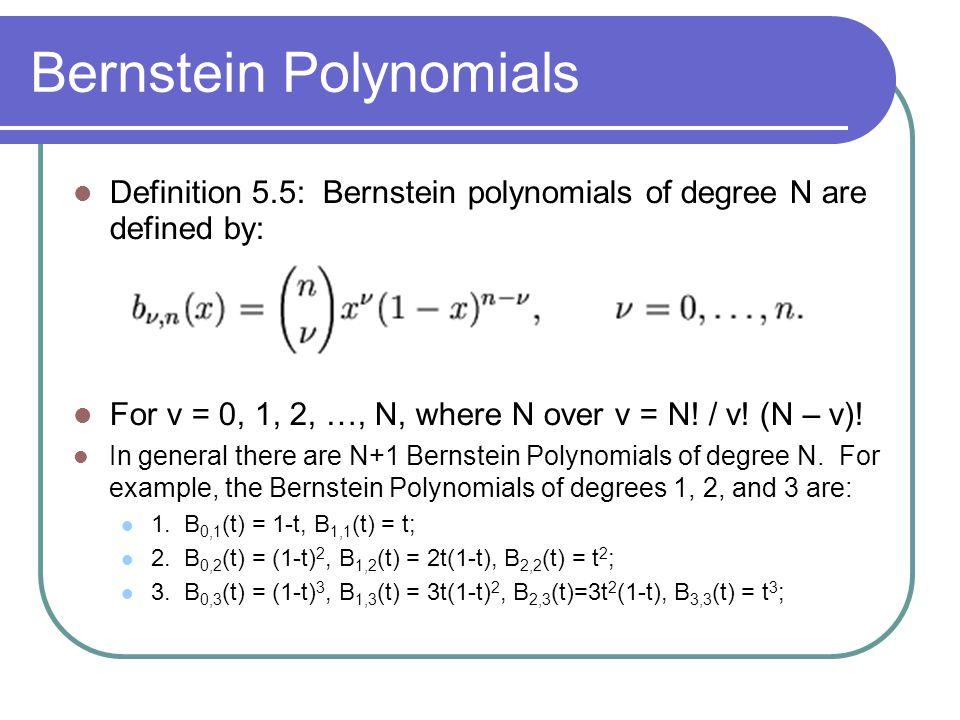 Bernstein Polynomials