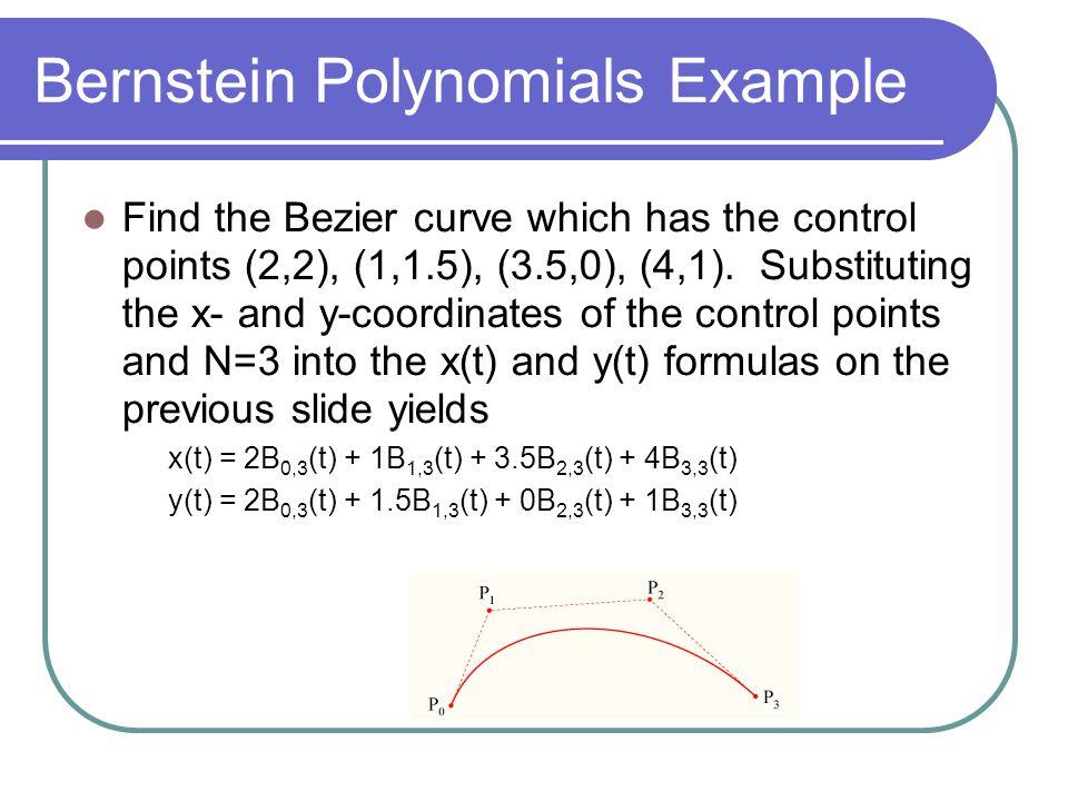 Bernstein Polynomials Example