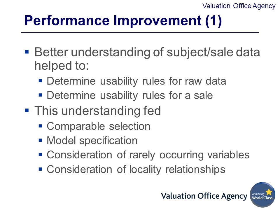 Performance Improvement (1)