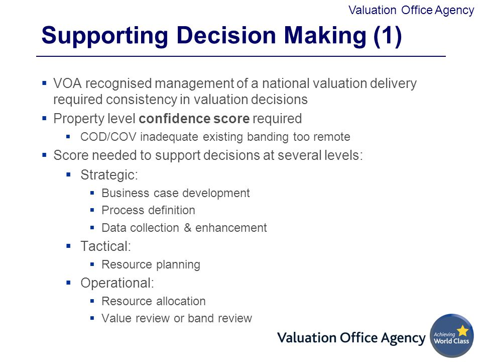 Supporting Decision Making (1)