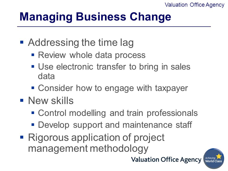 Managing Business Change