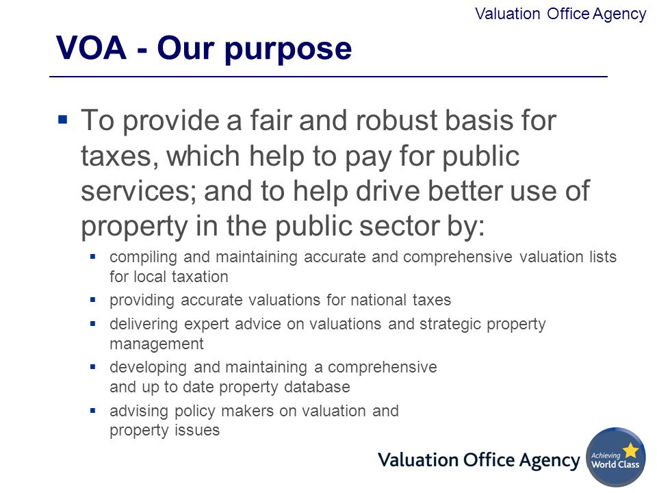VOA - Our purpose