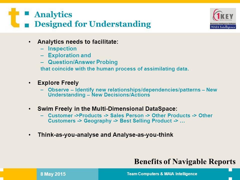 Analytics Designed for Understanding