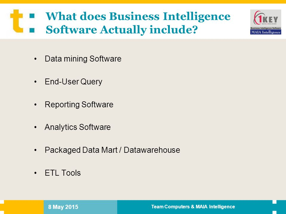 What does Business Intelligence Software Actually include