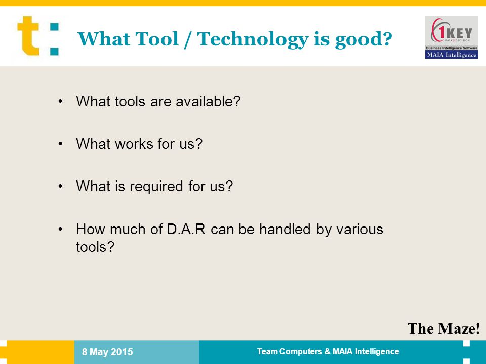 What Tool / Technology is good