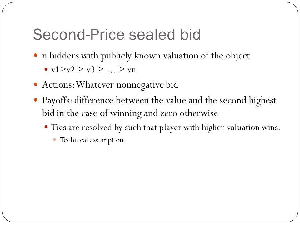 Second-Price sealed bid