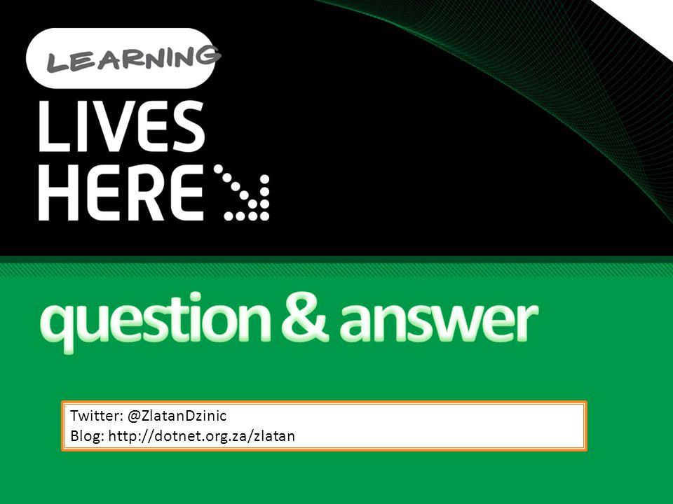question & answer Twitter: @ZlatanDzinic