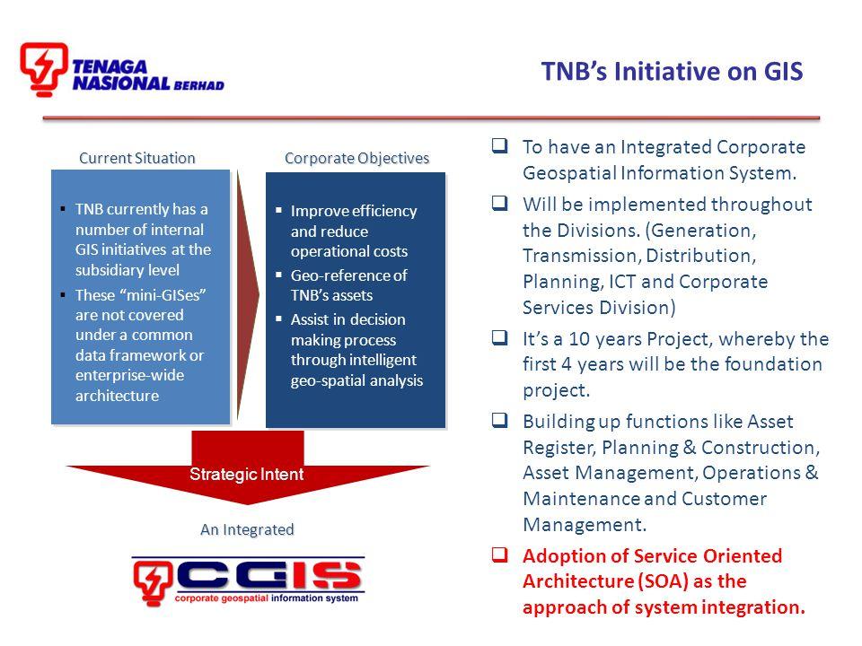 TNB's Initiative on GIS