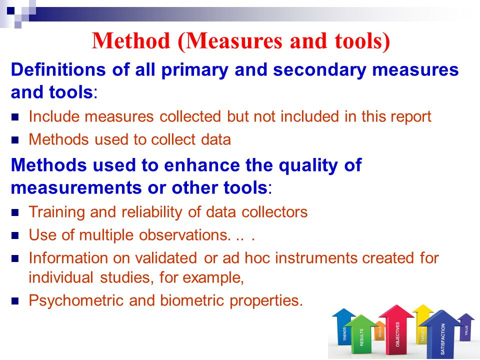 Method (Measures and tools)