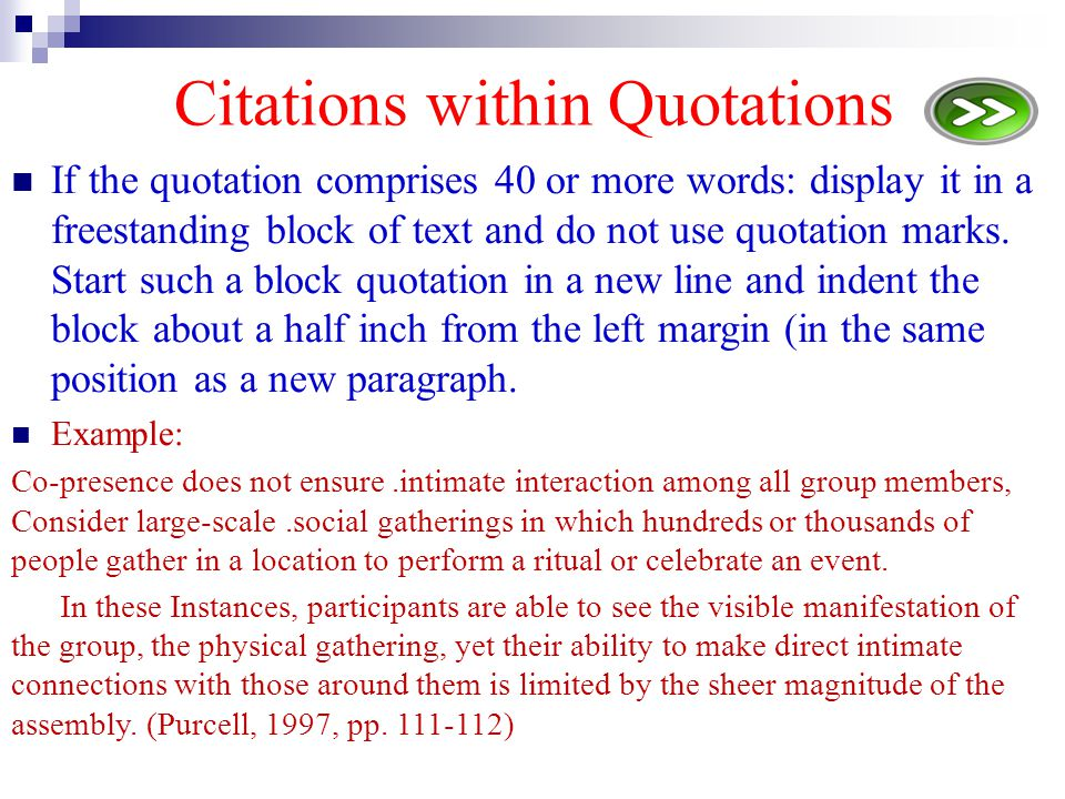 Citations within Quotations