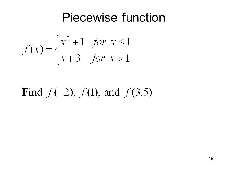 Piecewise function