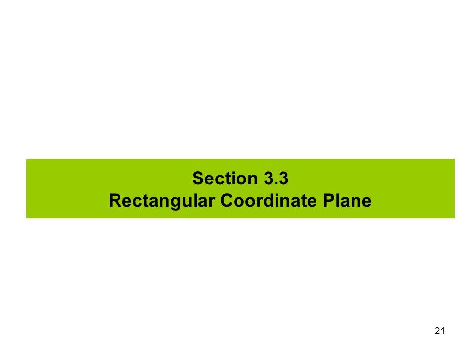Section 3.3 Rectangular Coordinate Plane