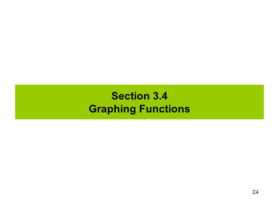 Section 3.4 Graphing Functions