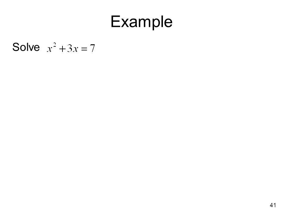Example Solve