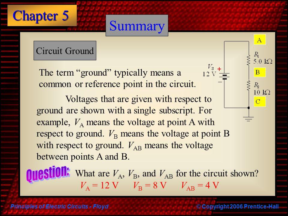 Summary Summary Question: Circuit Ground