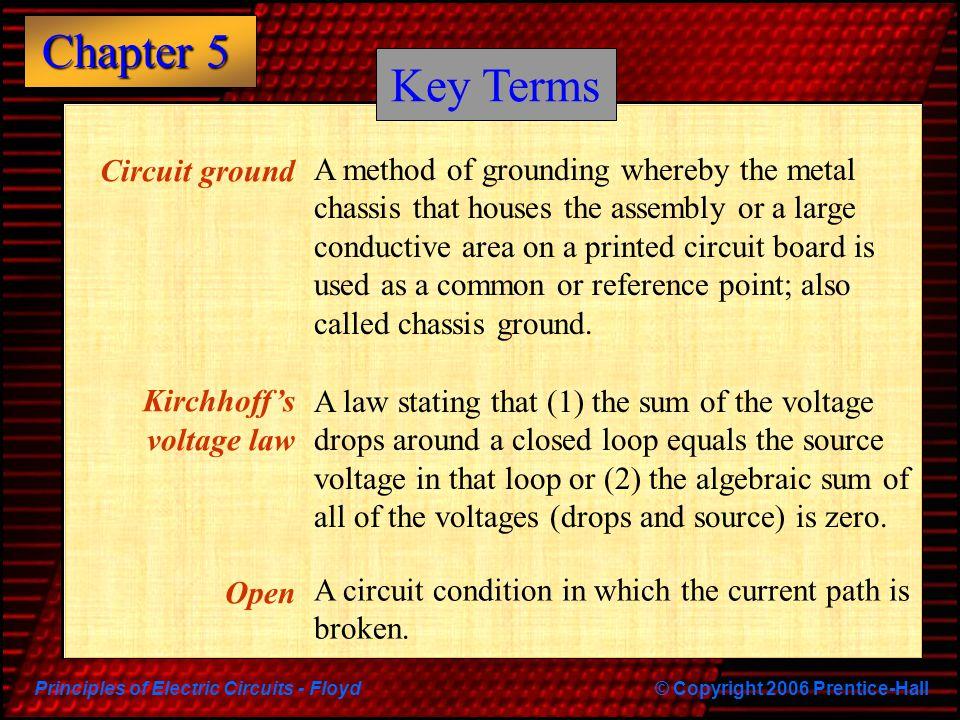 Key Terms Circuit ground