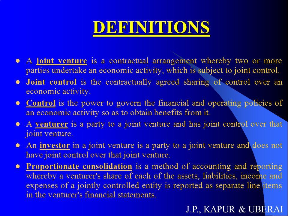DEFINITIONS J.P., KAPUR & UBERAI