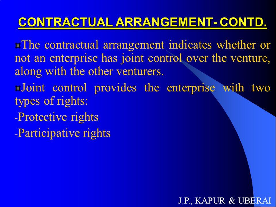CONTRACTUAL ARRANGEMENT- CONTD.