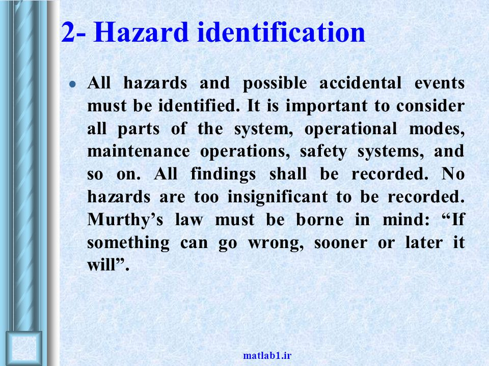 2- Hazard identification
