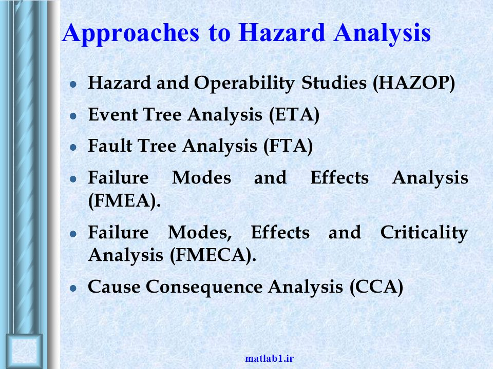 Approaches to Hazard Analysis
