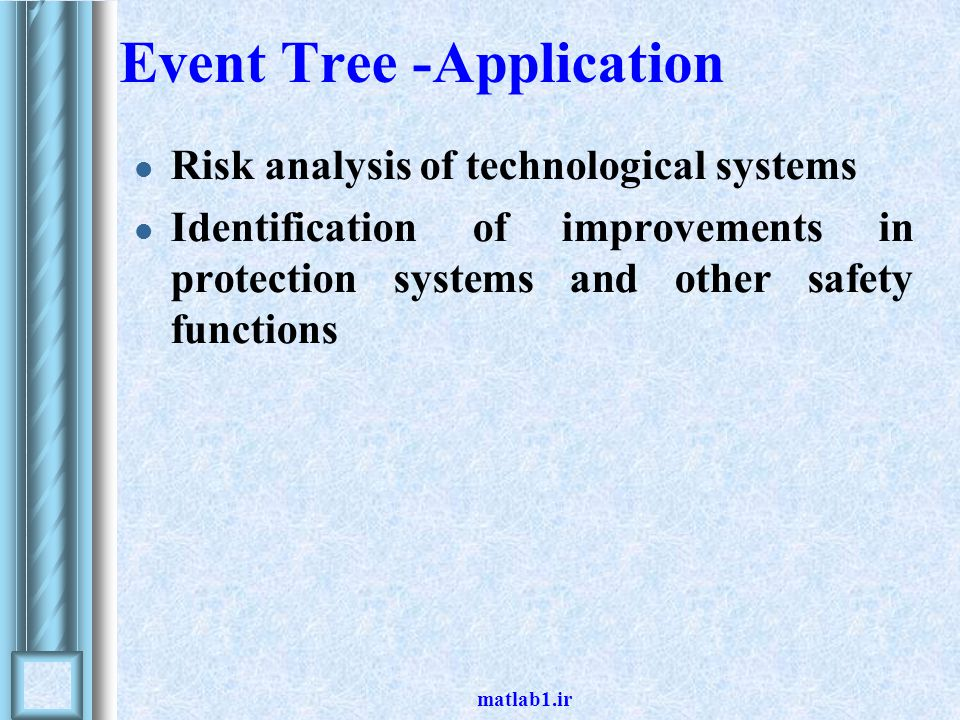 Event Tree -Application