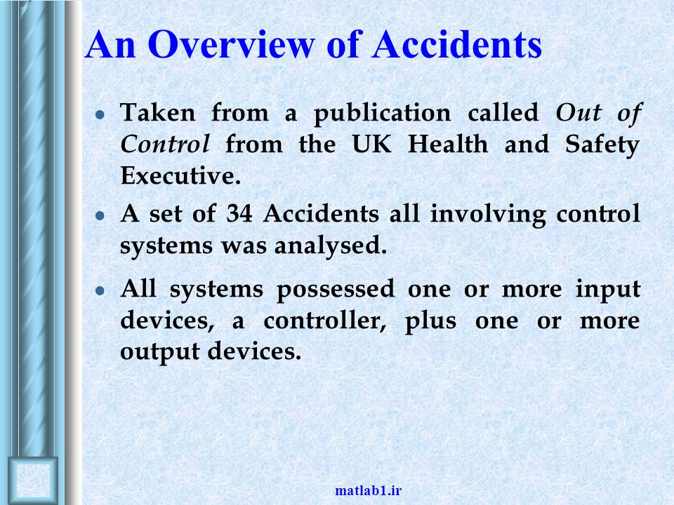 An Overview of Accidents