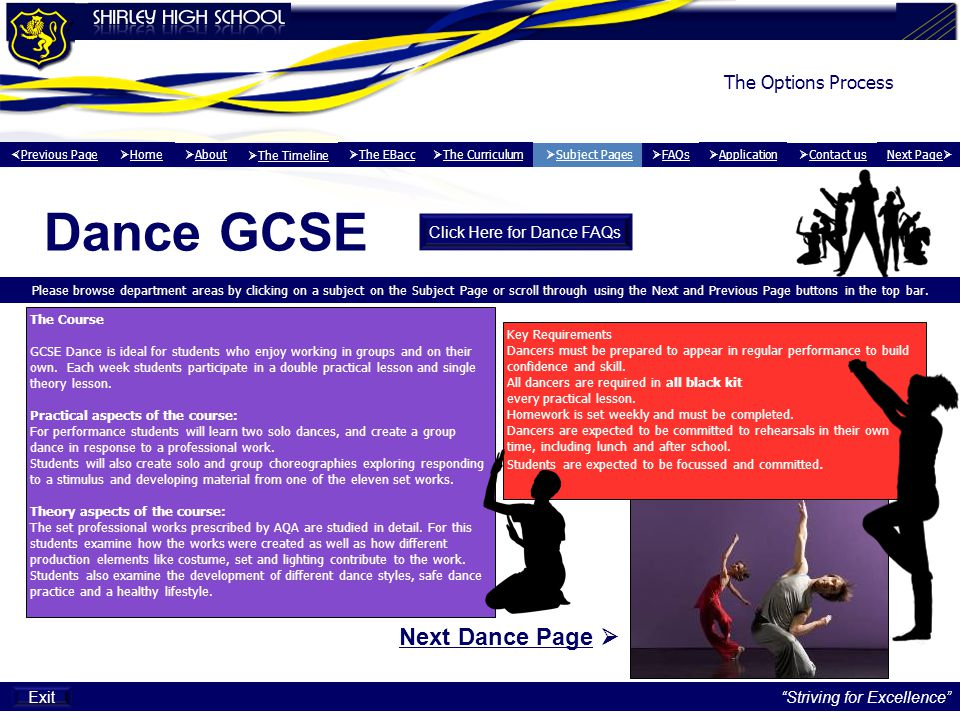 Click Here for Dance FAQs