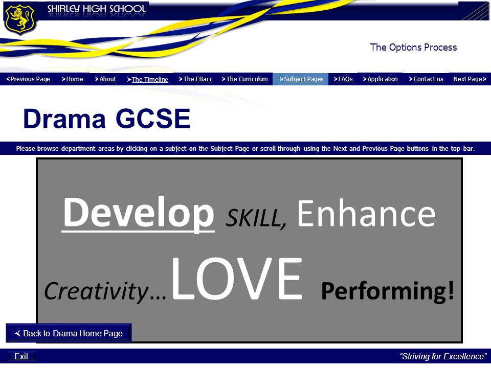 Develop SKILL, Enhance Creativity…LOVE Performing!