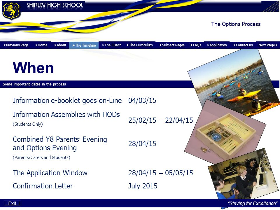When Information e-booklet goes on-Line 04/03/15