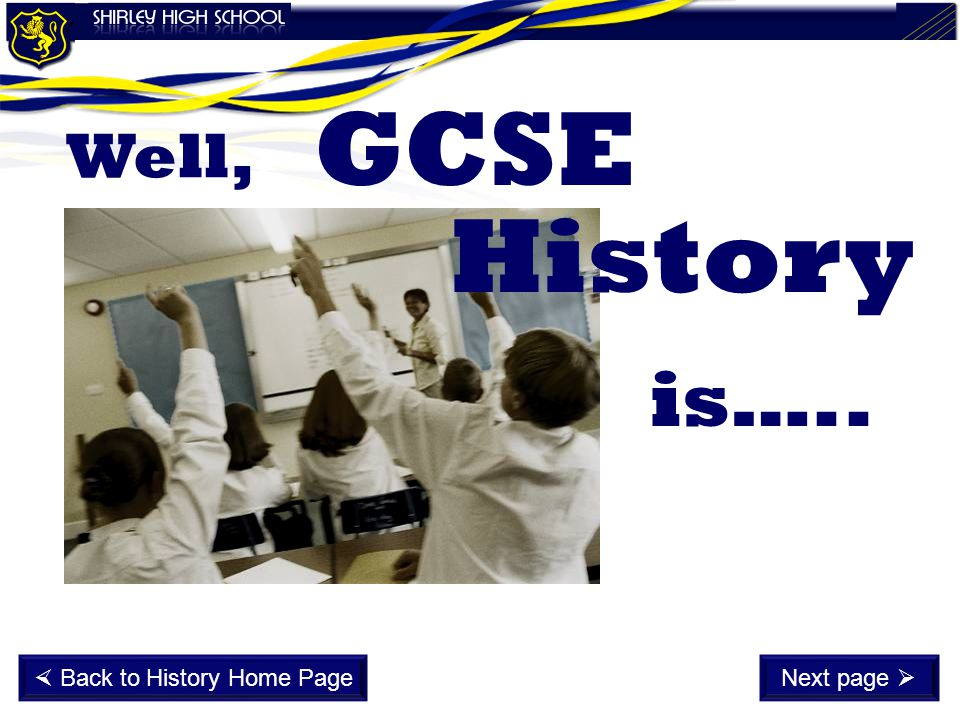  Back to History Home Page