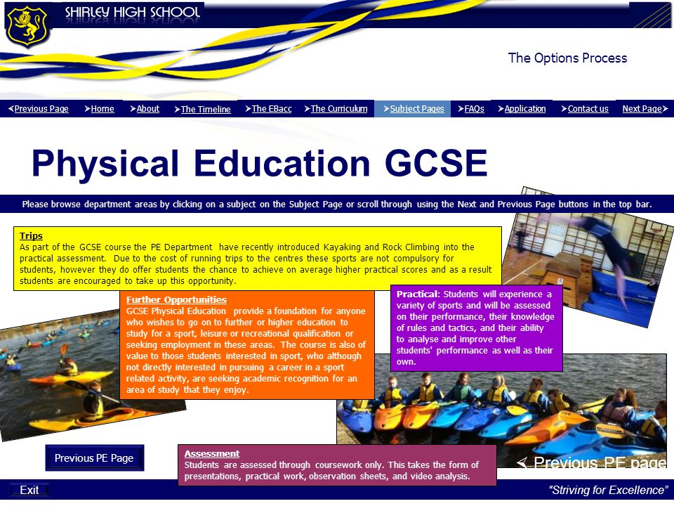 Physical Education GCSE