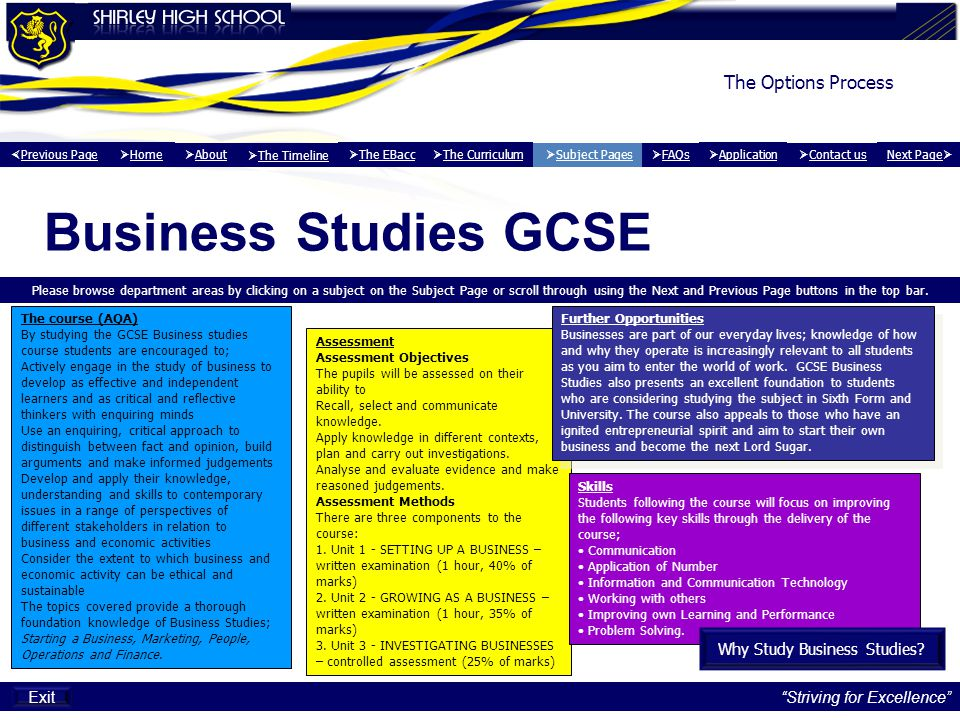 Why Study Business Studies