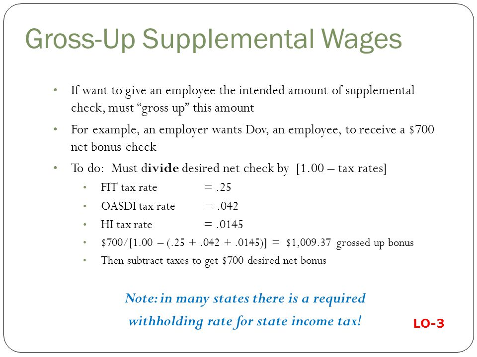 Gross-Up Supplemental Wages