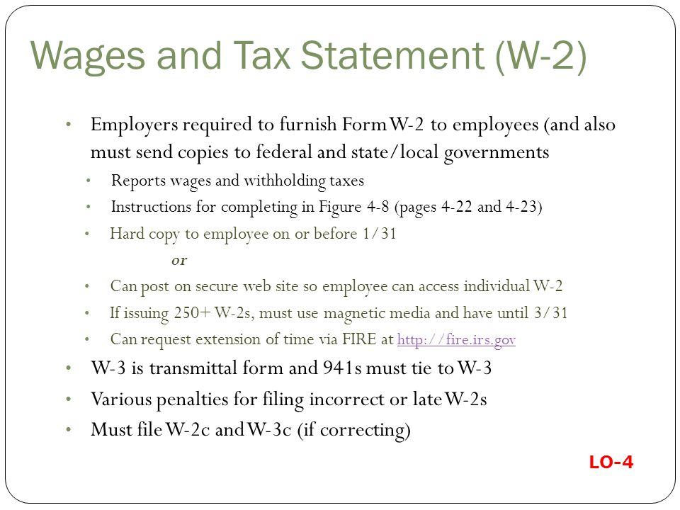Wages and Tax Statement (W-2)