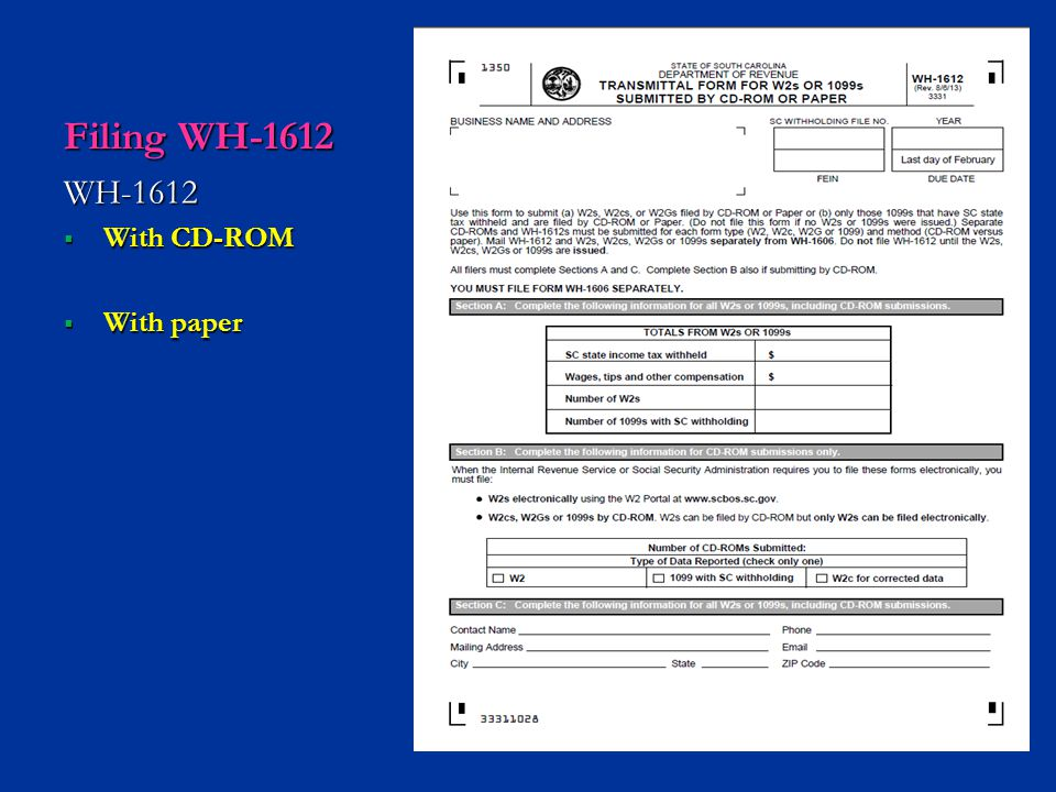 Filing WH-1612 WH-1612 With CD-ROM With paper