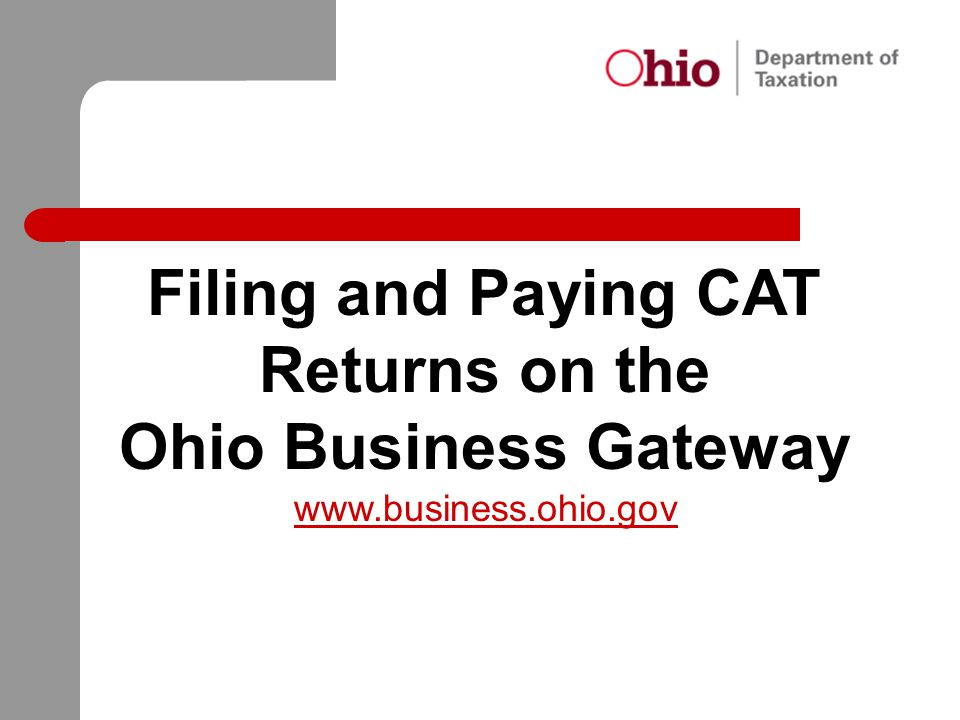 Filing and Paying CAT Returns on the