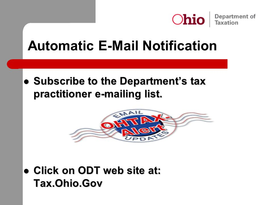 Automatic E-Mail Notification
