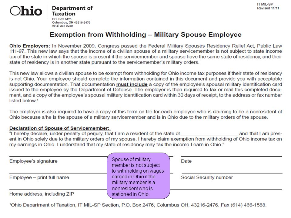 Employer and School District Withholding (Employee Payroll)