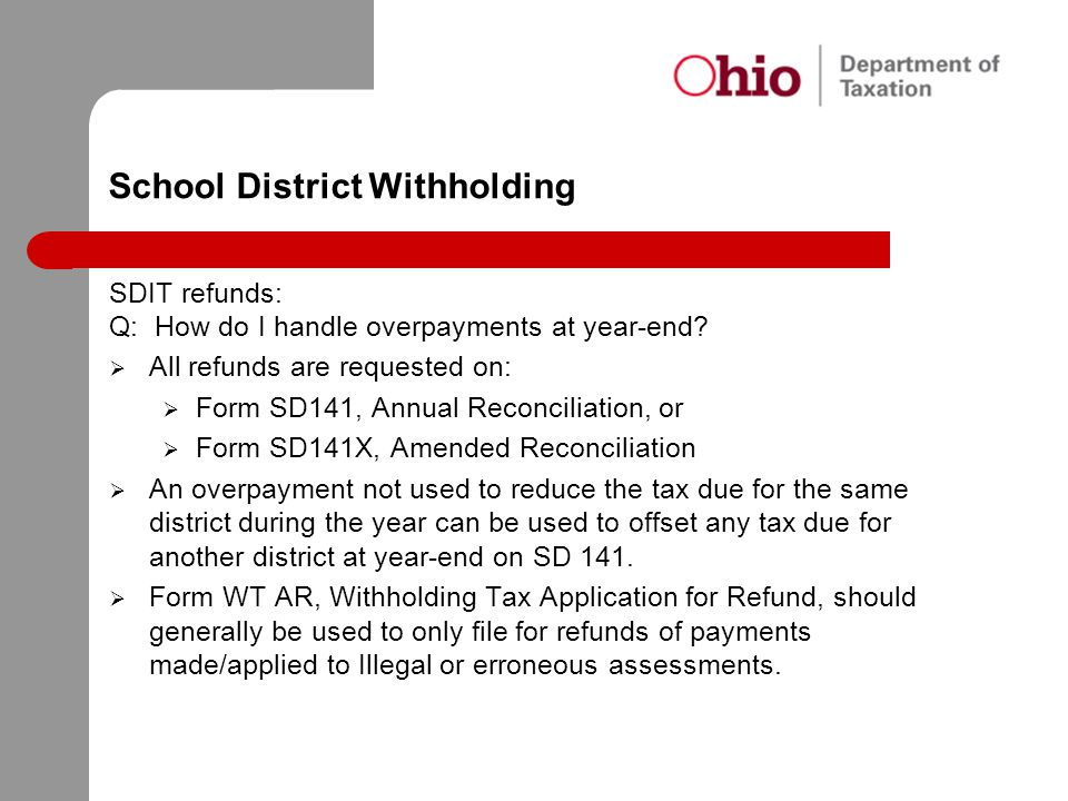 School District Withholding