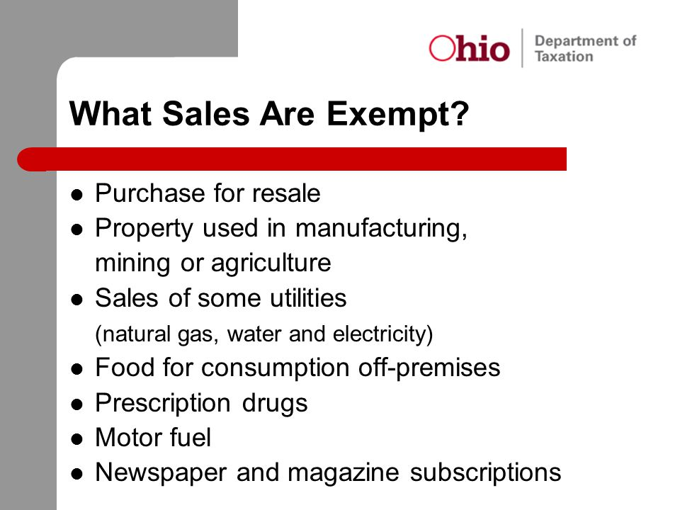 What Sales Are Exempt Purchase for resale