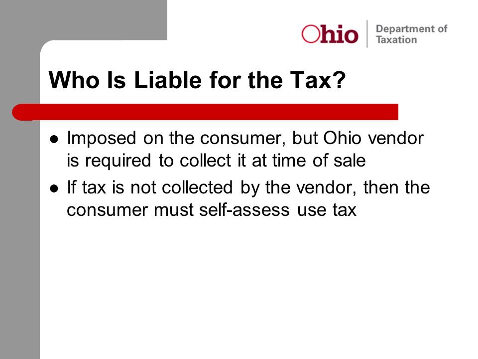 Who Is Liable for the Tax