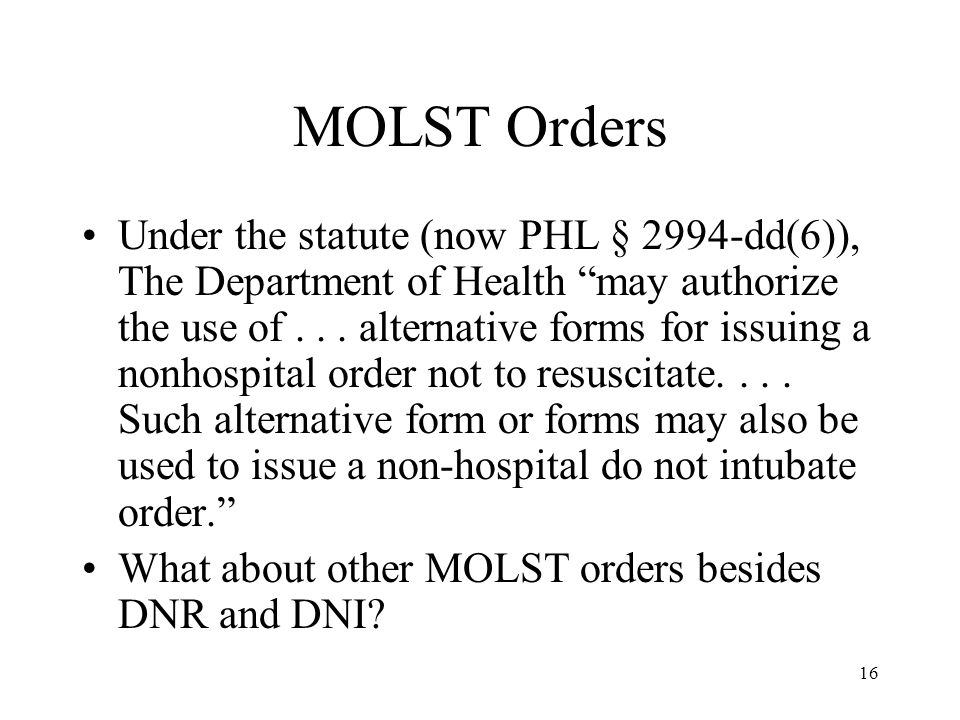 MOLST Orders