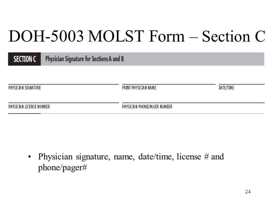 DOH-5003 MOLST Form – Section C