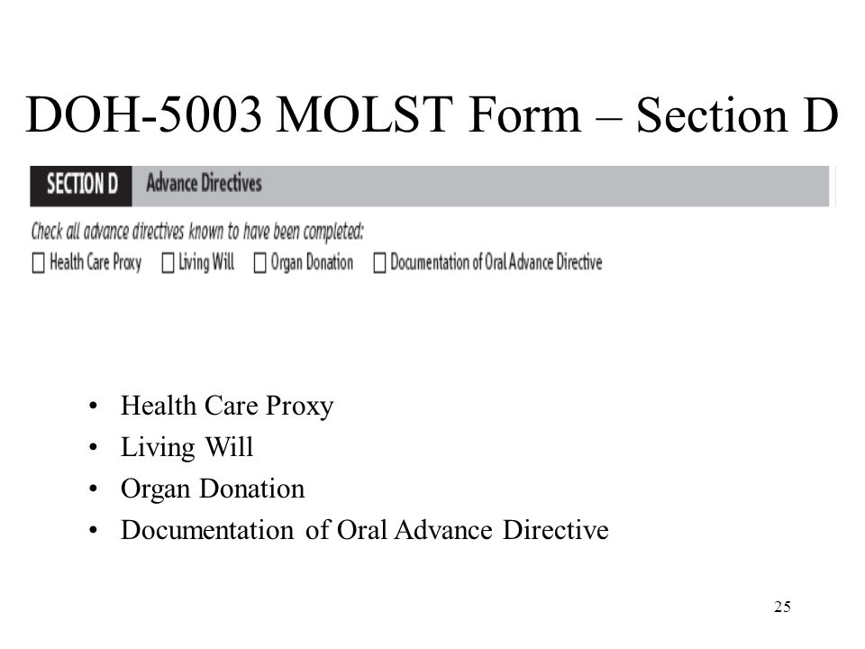 DOH 5003 MOLST Form U2013 Section D