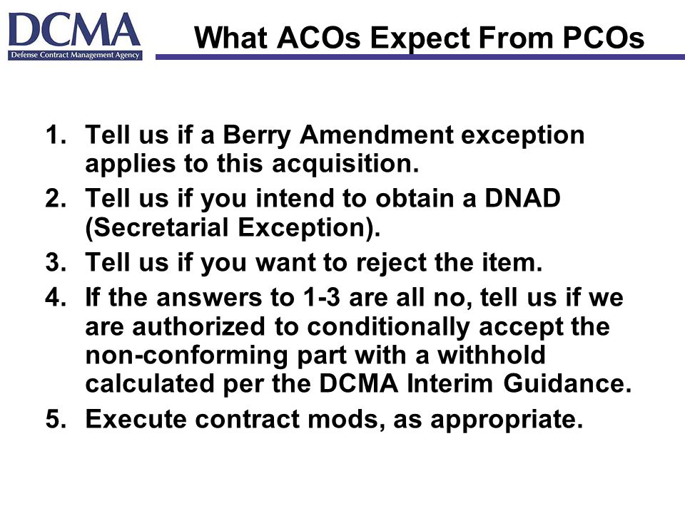 What ACOs Expect From PCOs