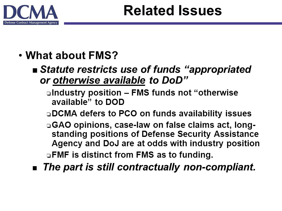 Related Issues What about FMS